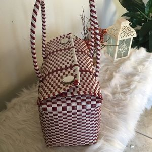 Mexican woven tote bag